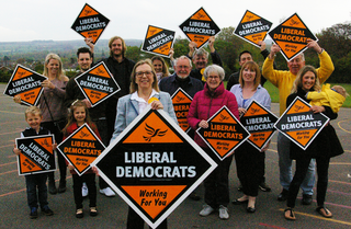 Shipley supporters with posters